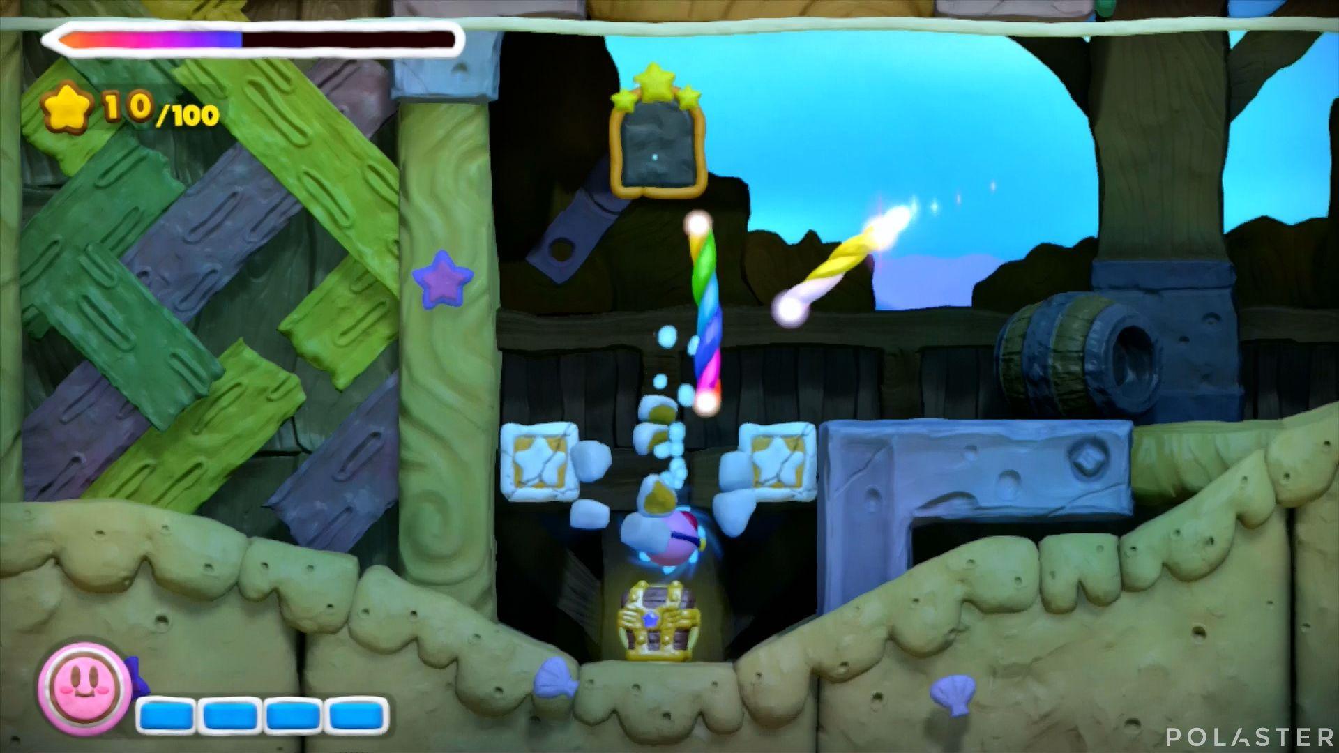 Kirby y el Pincel Arcoíris: Nivel 3-2 Cofre 2