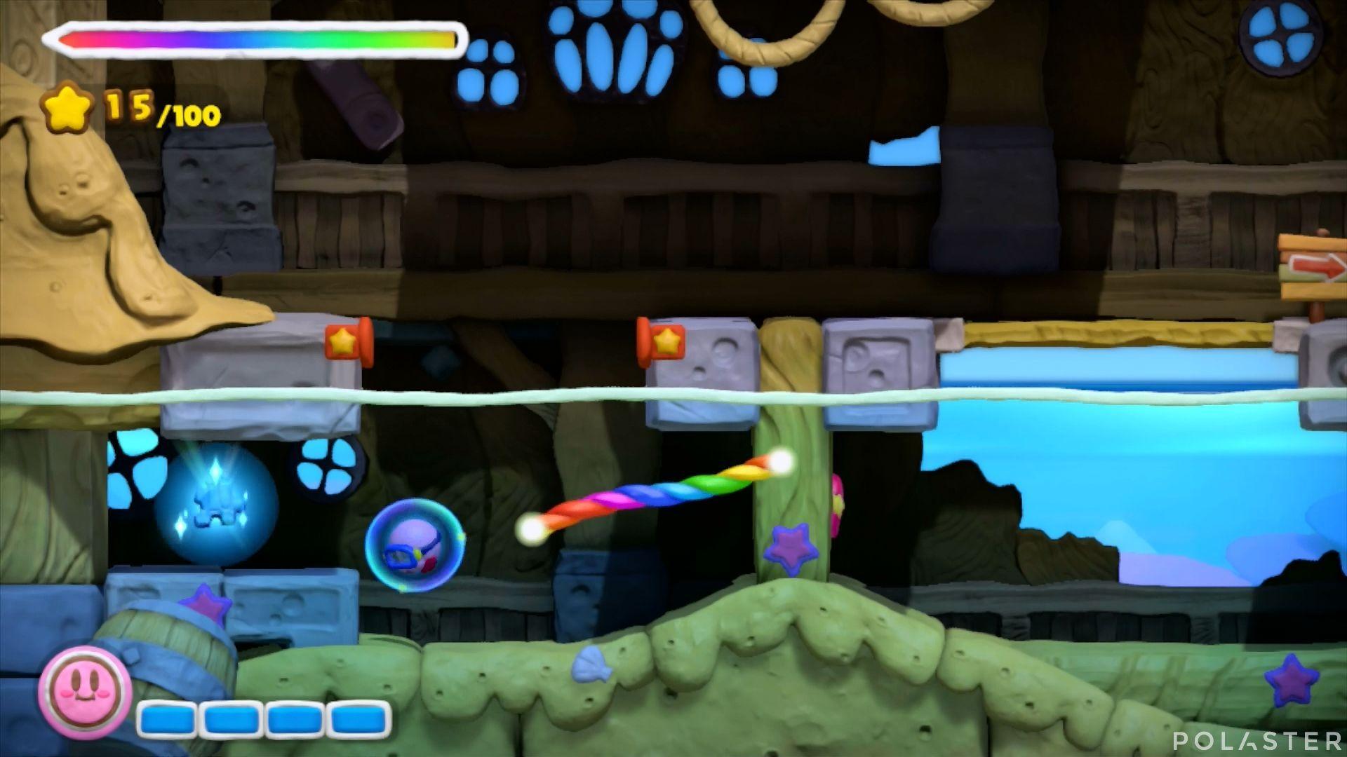 Kirby y el Pincel Arcoíris: Nivel 3-2 Cofre 4