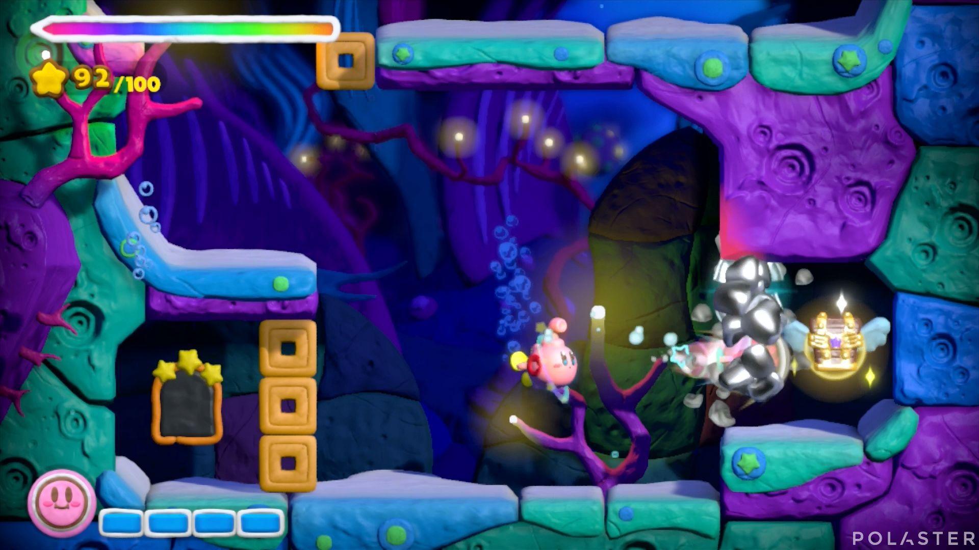 Kirby y el Pincel Arcoíris: Nivel 3-3 Cofre 1
