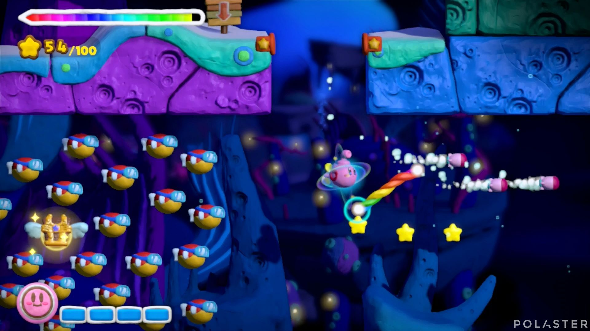 Kirby y el Pincel Arcoíris: Nivel 3-3 Cofre 3