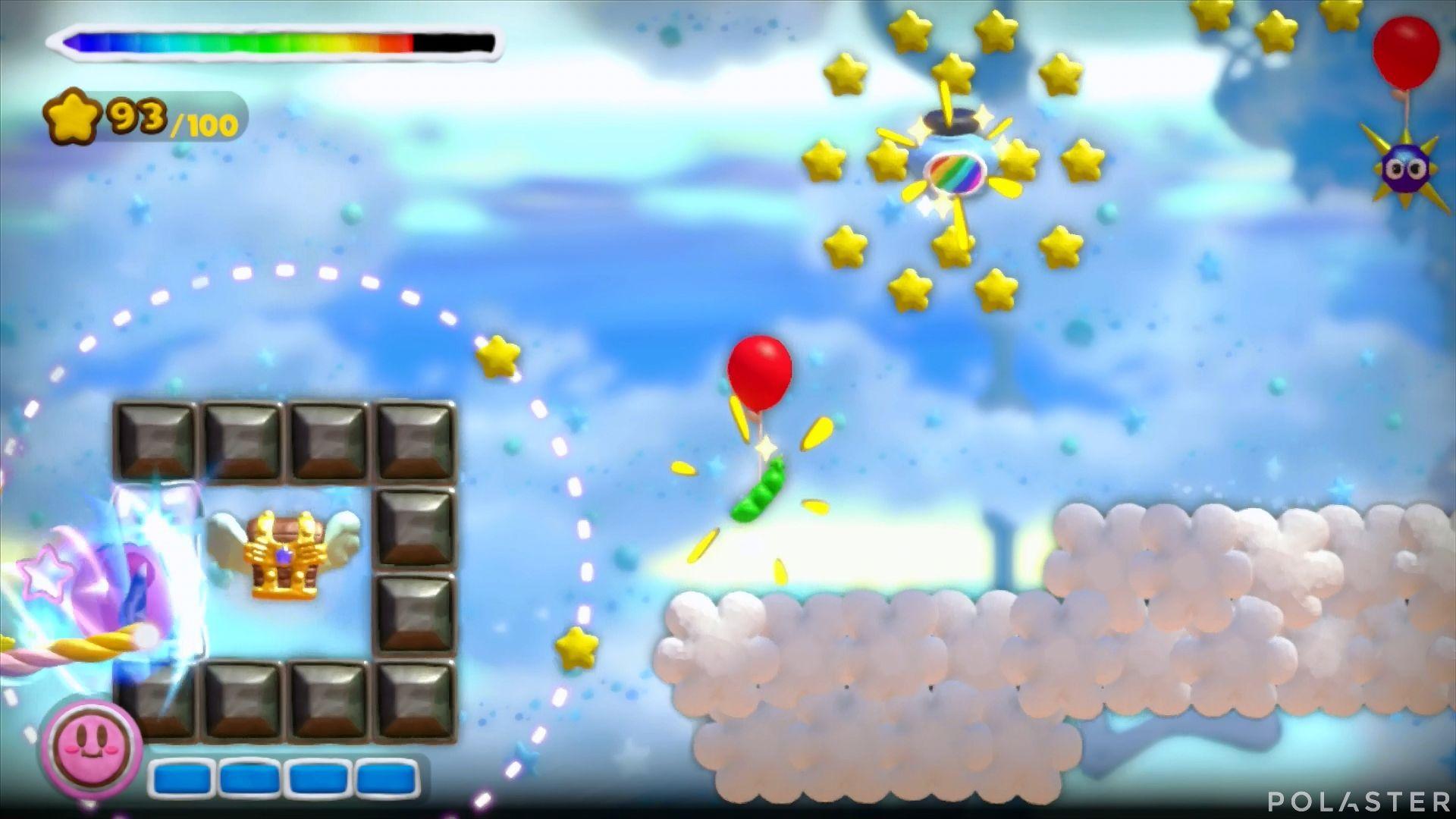 Kirby y el Pincel Arcoíris: Nivel 4-1 Cofre 1