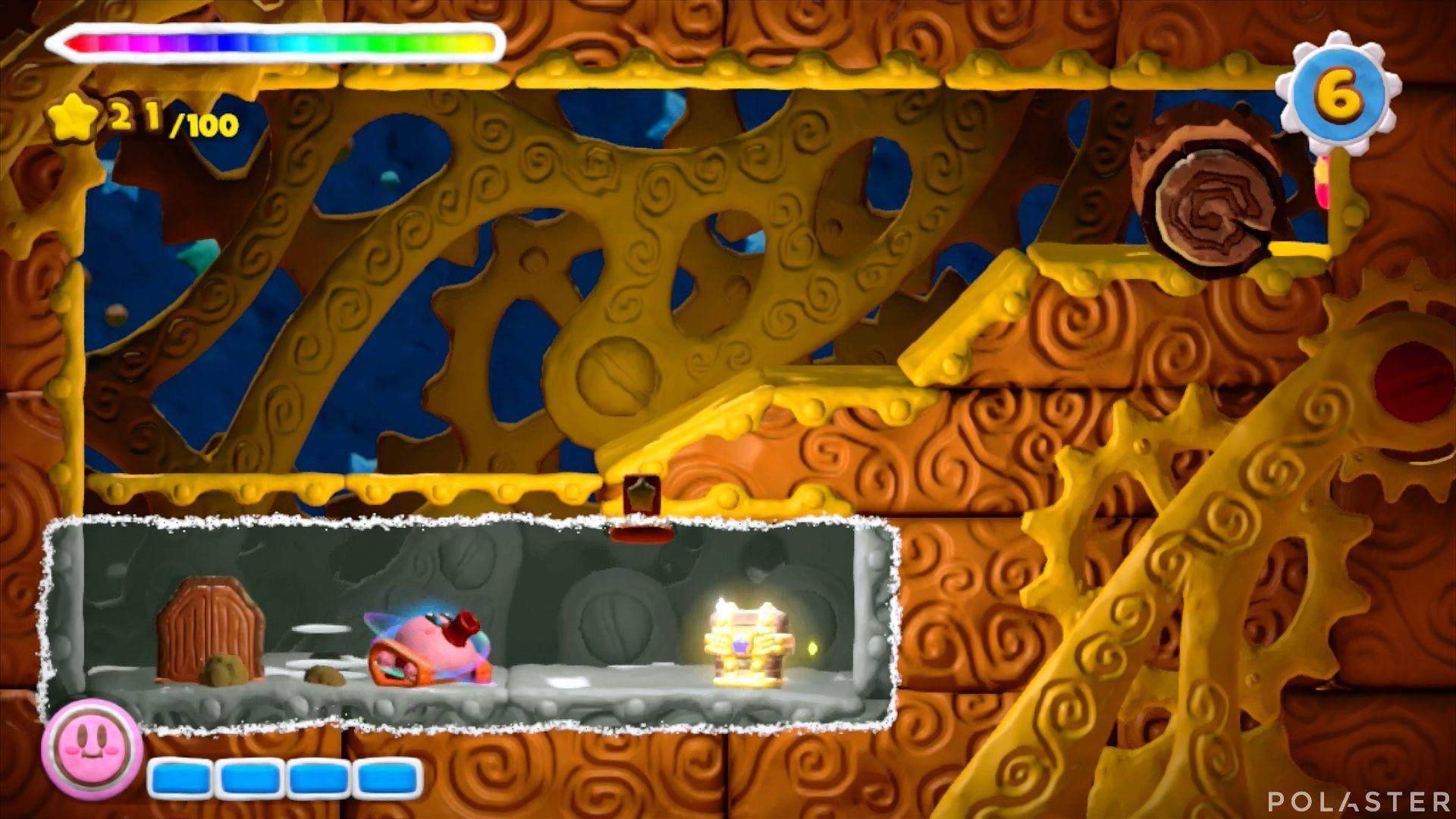 Kirby y el Pincel Arcoíris: Nivel 5-1 Cofre 3