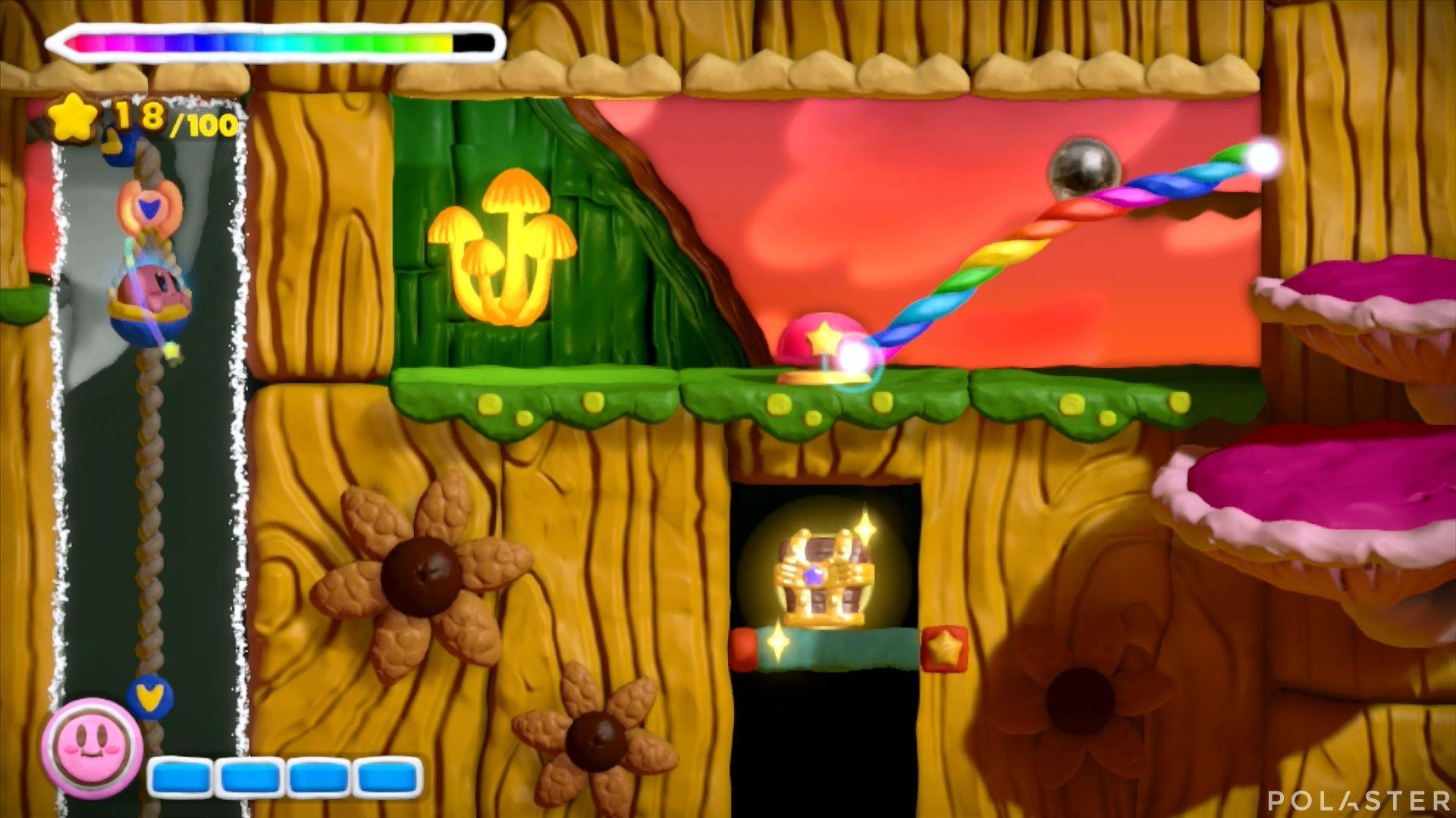 Kirby y el Pincel Arcoíris: Nivel 5-2 Cofre 3