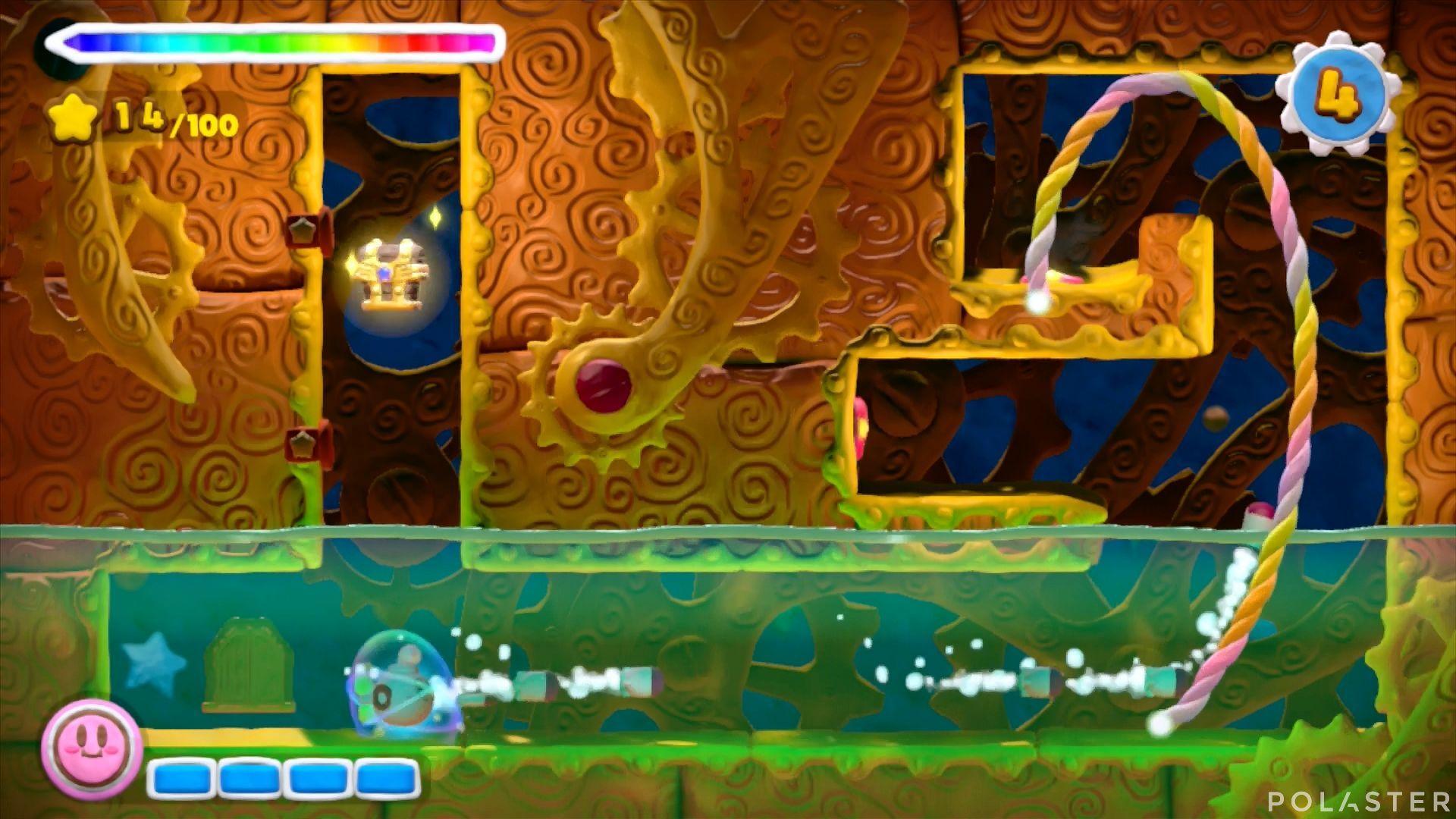 Kirby y el Pincel Arcoíris: Nivel 5-3 Cofre 4