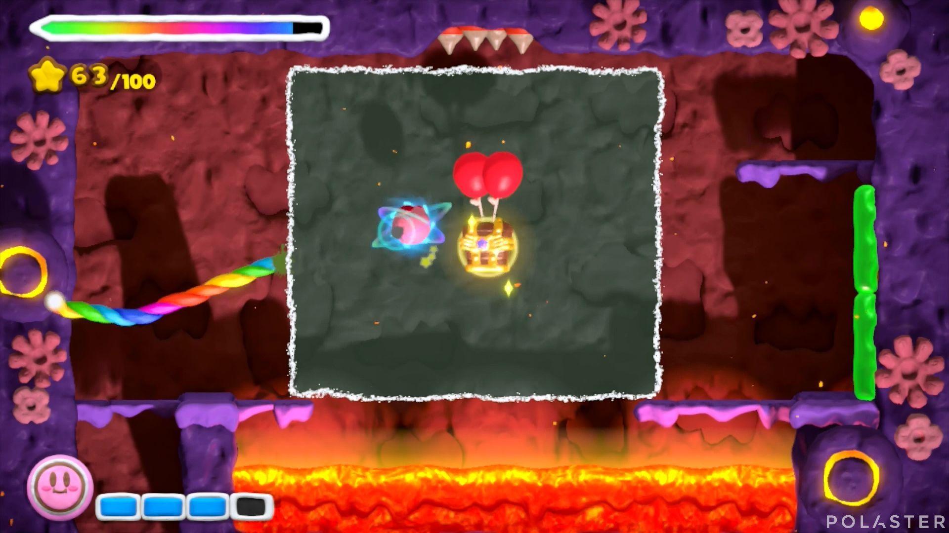 Kirby y el Pincel Arcoíris: Nivel 6-1 Cofre 4