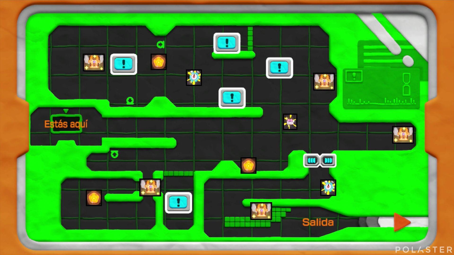 Kirby y el Pincel Arcoíris: Nivel 6-2 Cofres