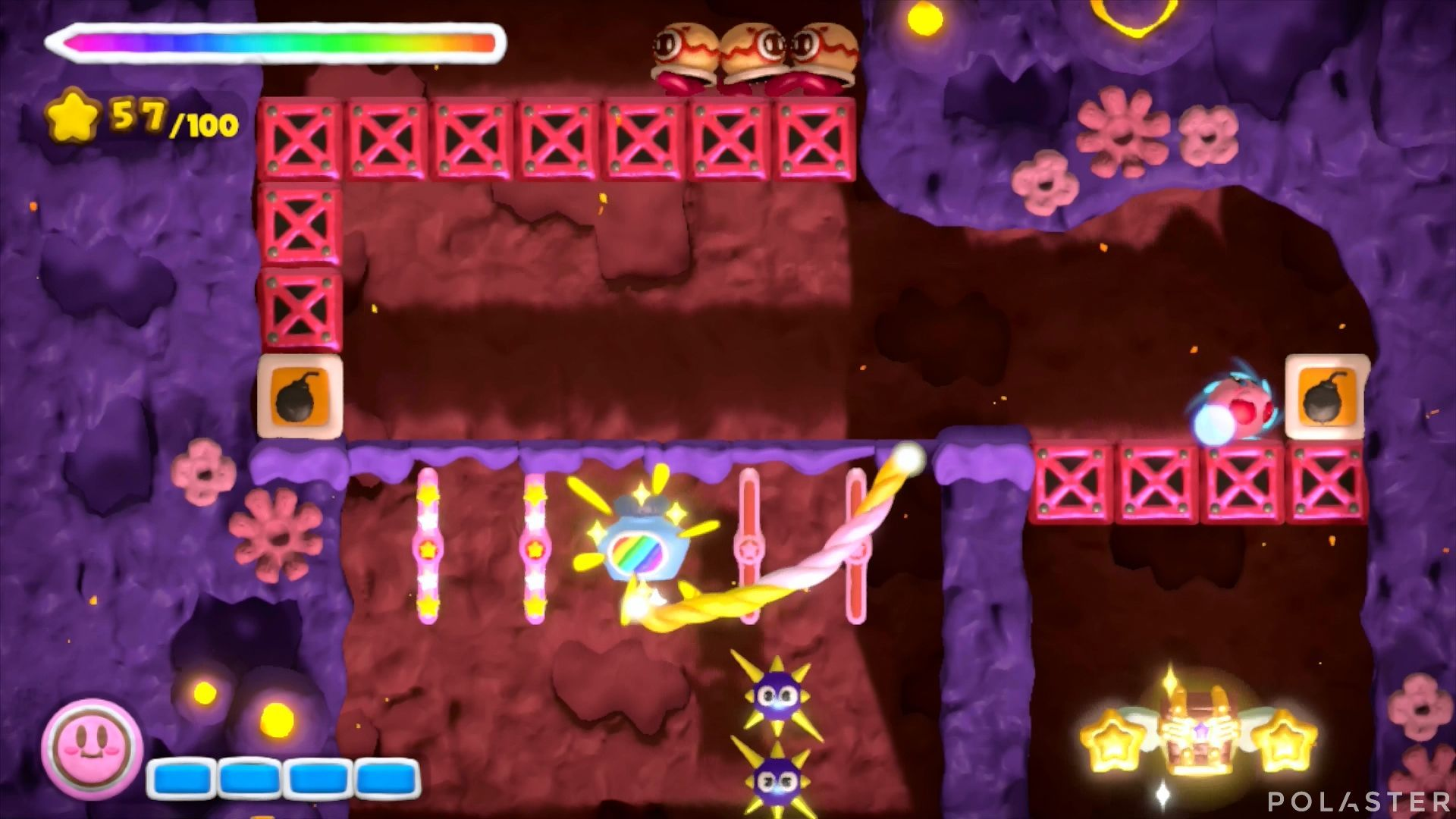 Kirby y el Pincel Arcoíris: Nivel 6-3 Cofre 1