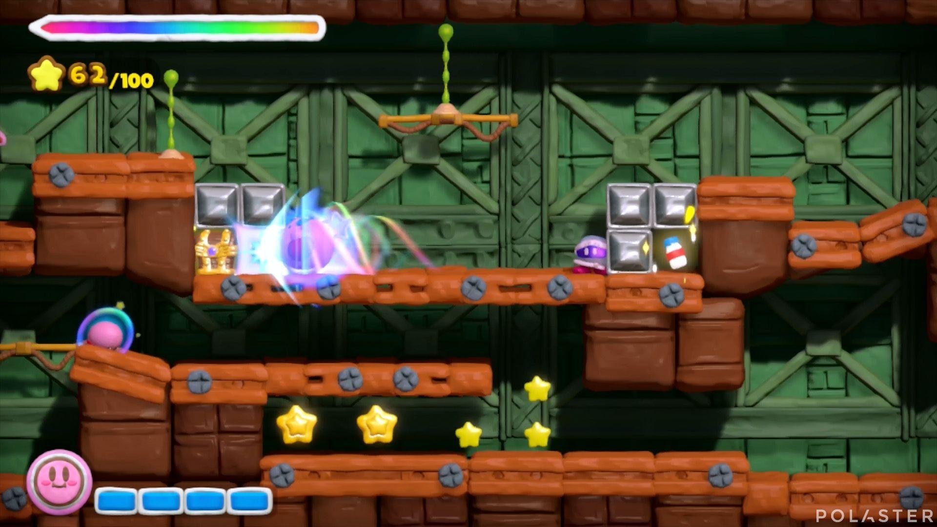 Kirby y el Pincel Arcoíris: Nivel 7-2 Cofre 2
