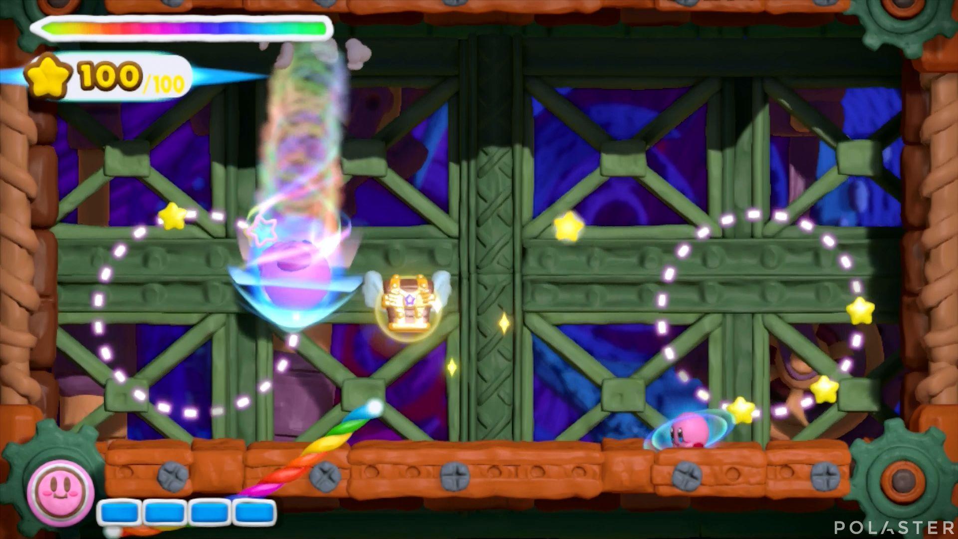 Kirby y el Pincel Arcoíris: Nivel 7-2 Cofre 3