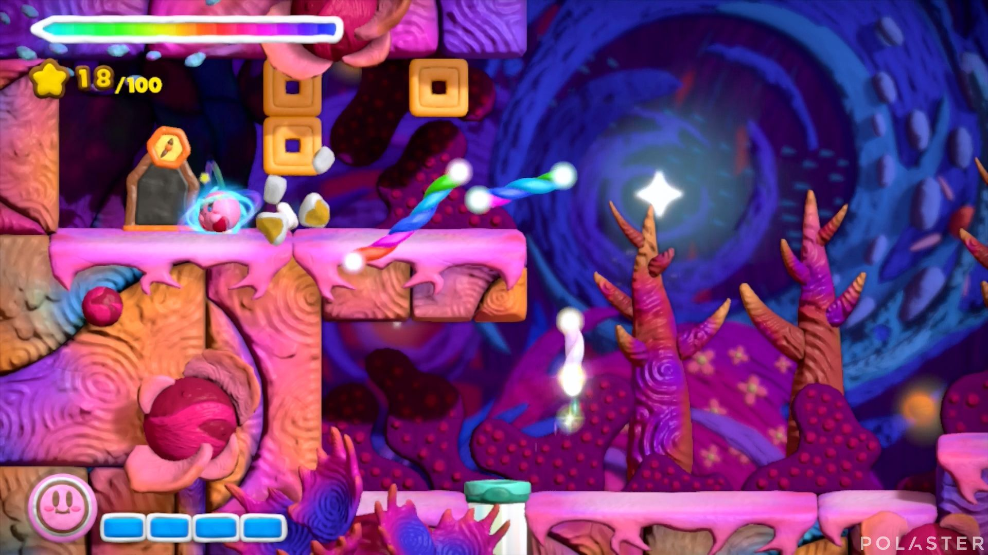 Kirby y el Pincel Arcoíris: Nivel 7-2 Cofre 4