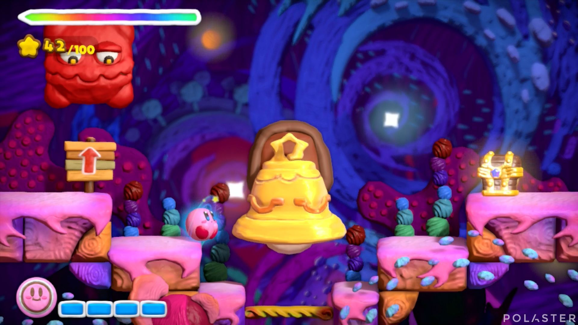 Kirby y el Pincel Arcoíris: Nivel 7-3 Cofre 4