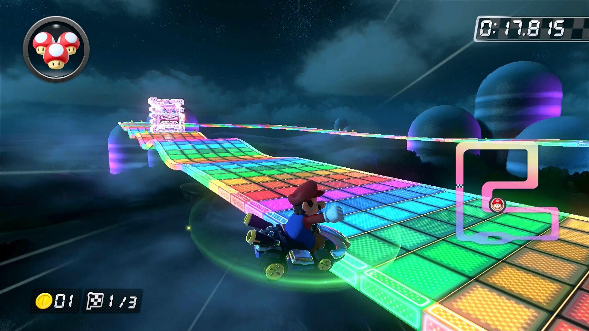 Mario Kart 8 - Senda Arco Iris SNES