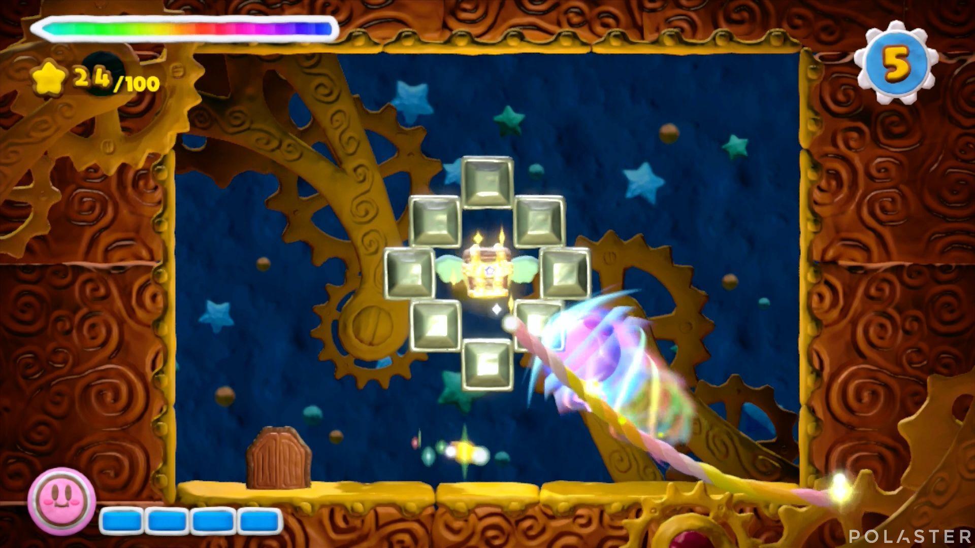 Kirby y el Pincel Arcoíris - Desafío 10 Cofre 3
