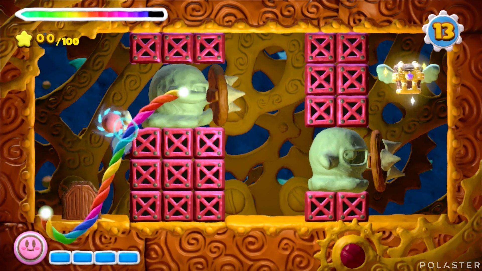 Kirby y el Pincel Arcoíris - Desafío 38: Cofre 1