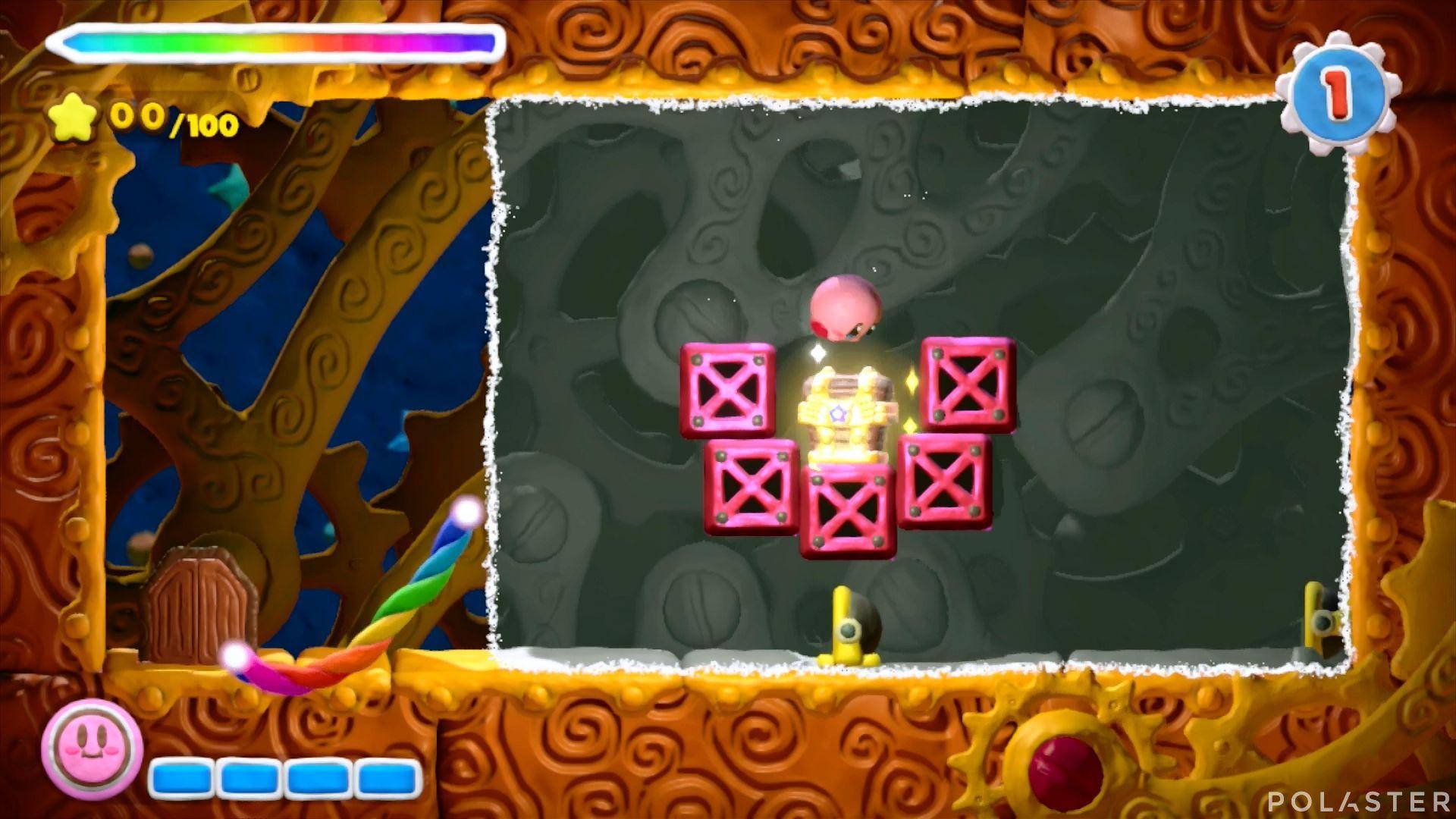 Kirby y el Pincel Arcoíris - Desafío 38: Cofre 3