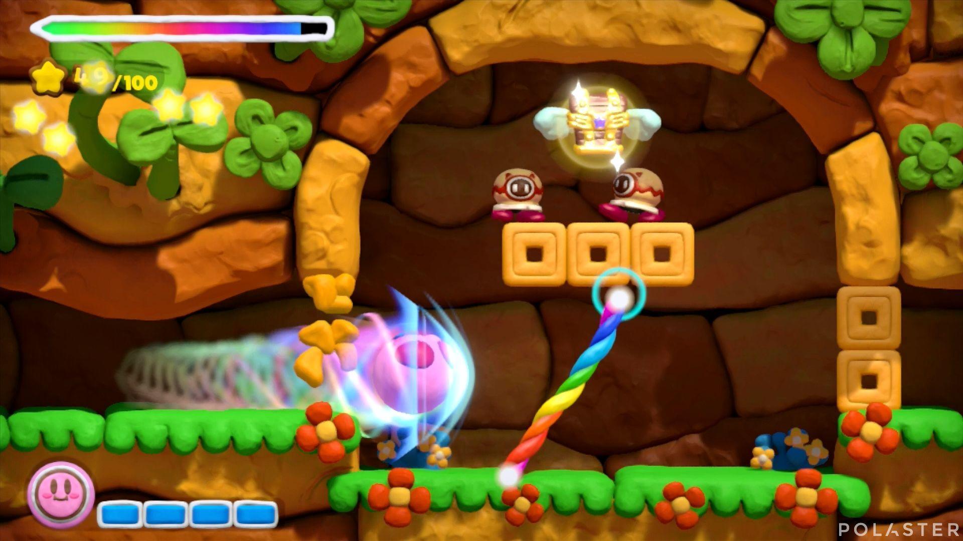 Kirby y el Pincel Arcoíris: Nivel 1-1 Cofre 2
