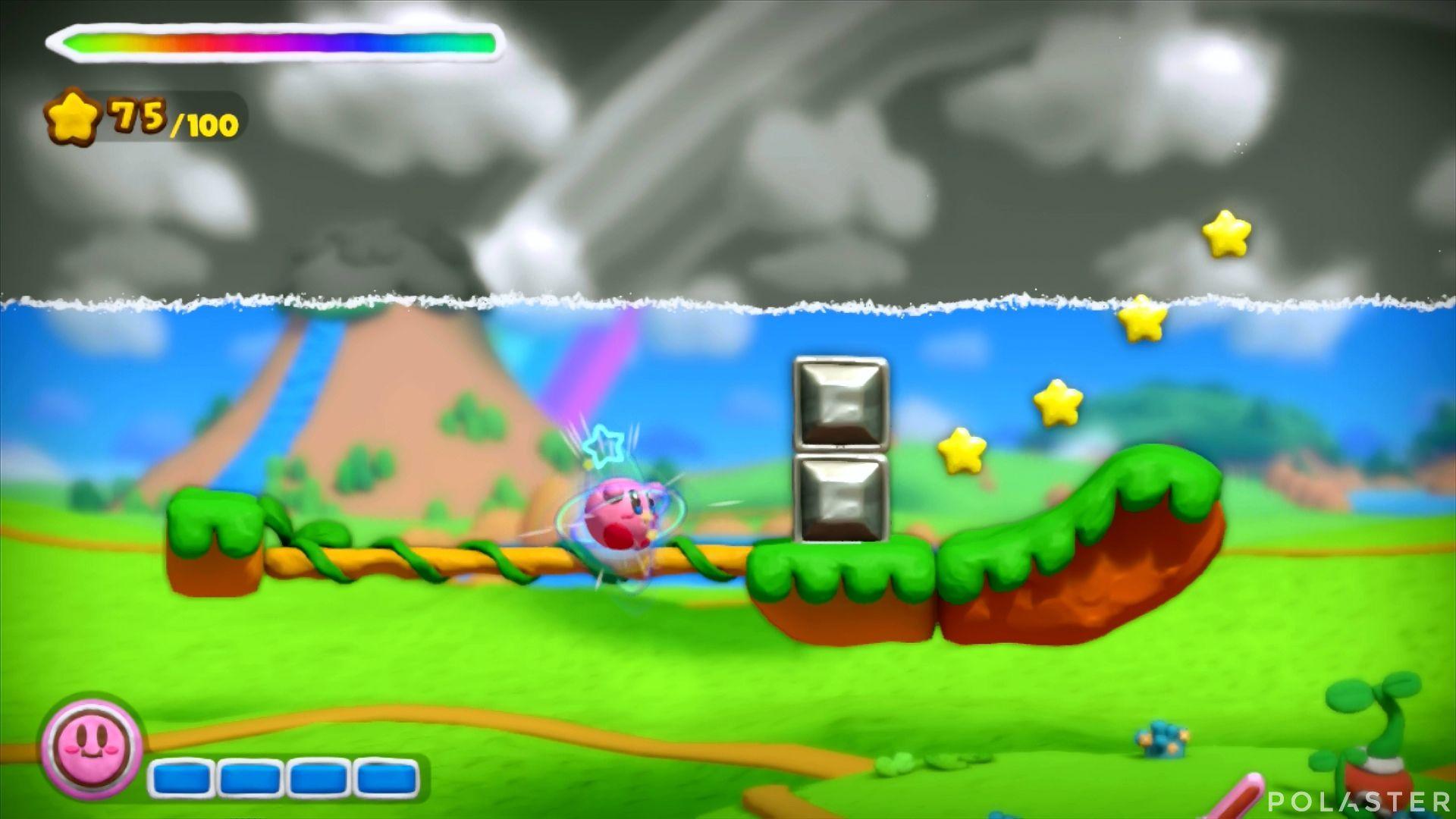 Kirby y el Pincel Arcoíris: Nivel 1-1 Cofre 3