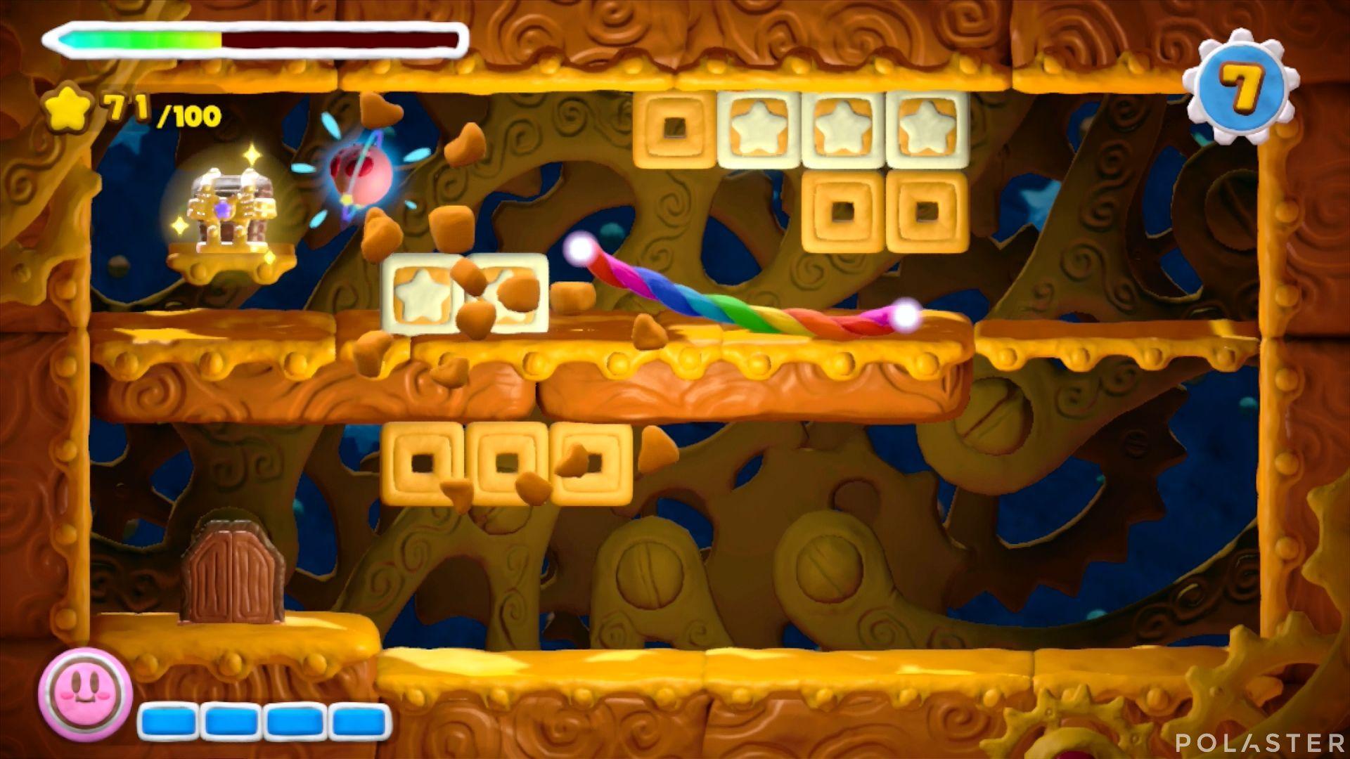 Kirby y el Pincel Arcoíris: Nivel 1-1 Cofre 4