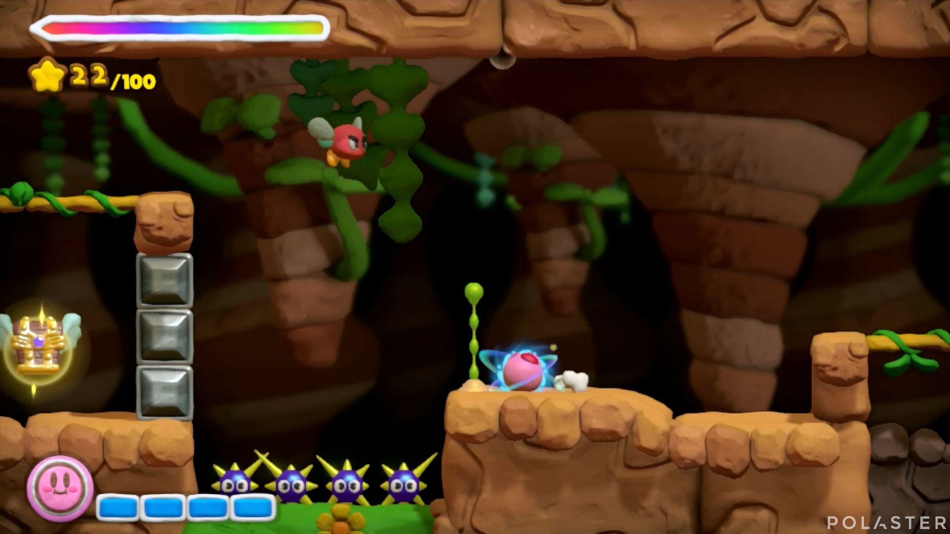 Kirby y el Pincel Arcoíris: Nivel 1-3 Cofre 1
