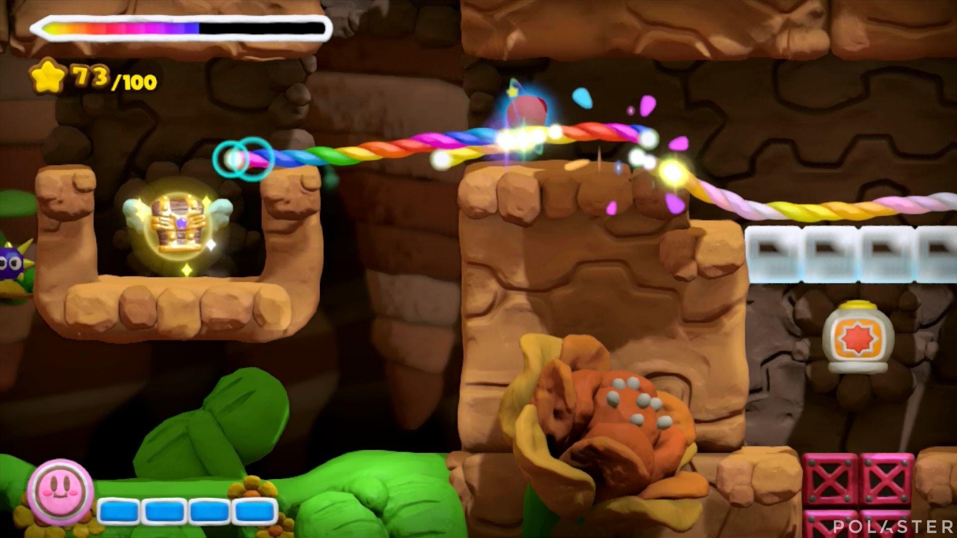 Kirby y el Pincel Arcoíris: Nivel 1-3 Cofre 2