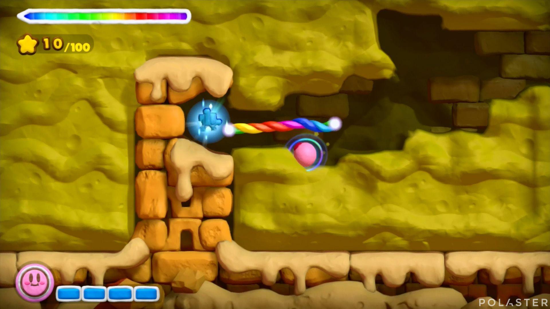 Kirby y el Pincel Arcoíris: Nivel 2-1 Cofre 1