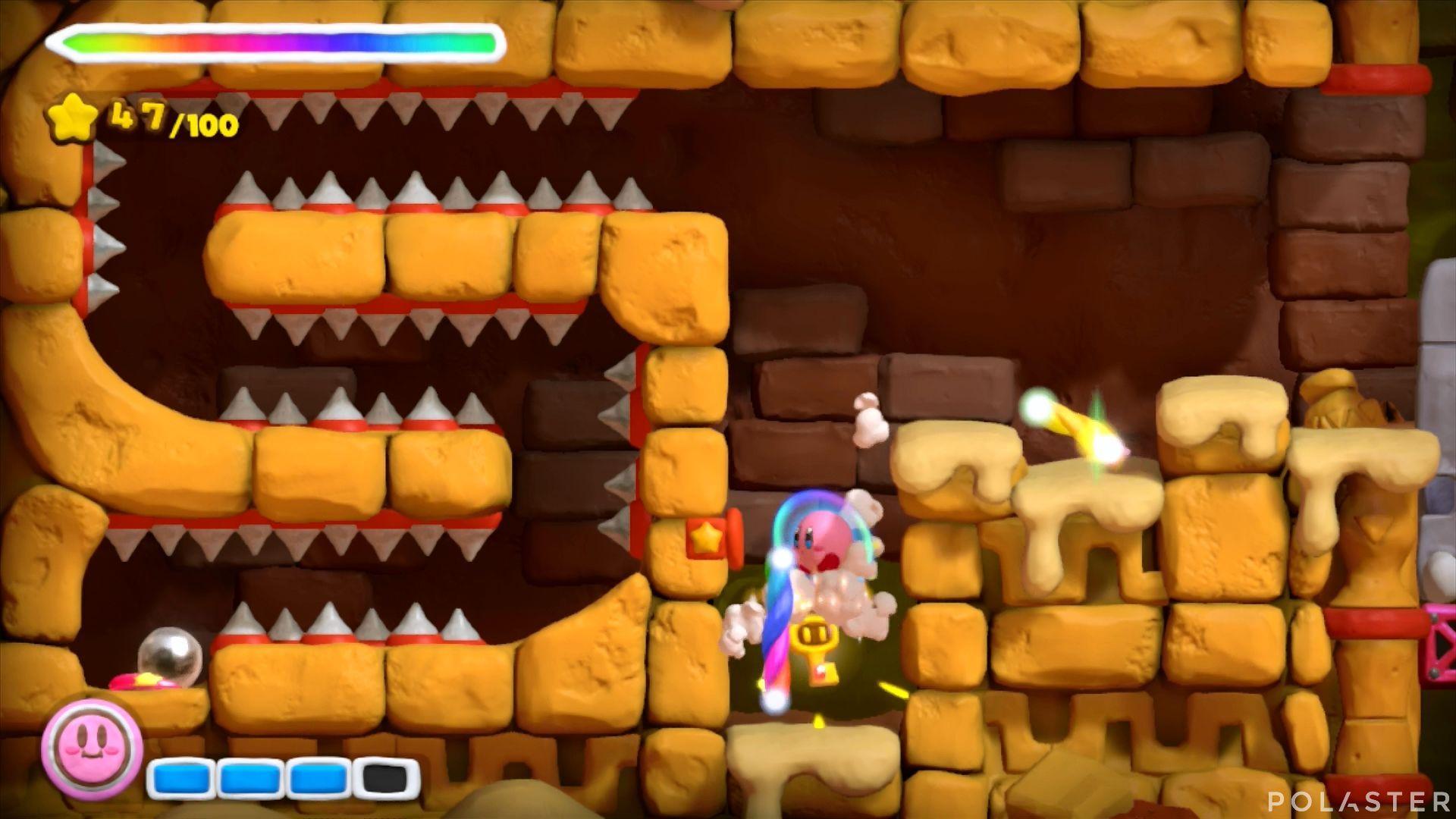Kirby y el Pincel Arcoíris: Nivel 2-1 Cofre 4