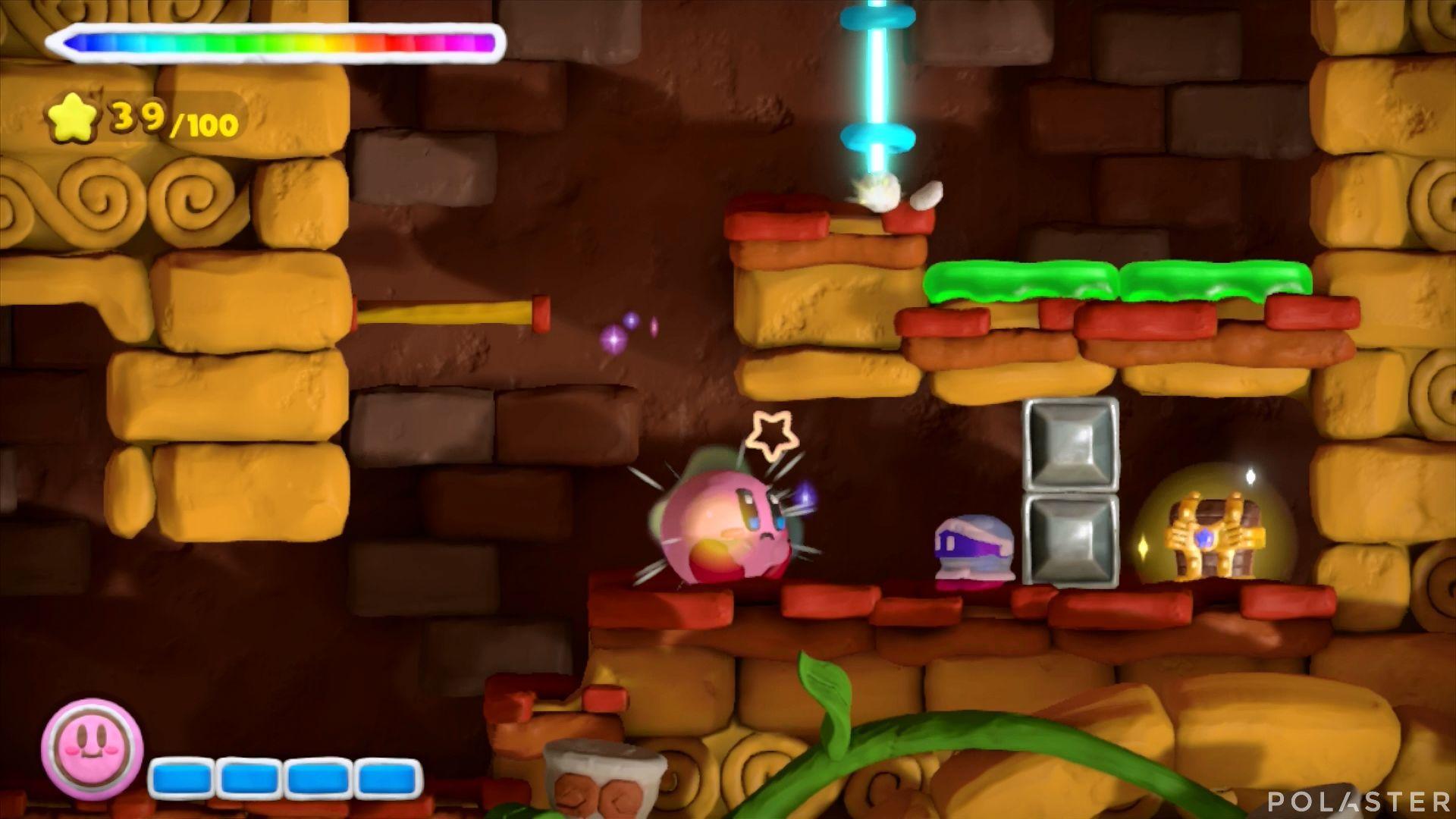 Kirby y el Pincel Arcoíris: Nivel 2-3 Cofre 1