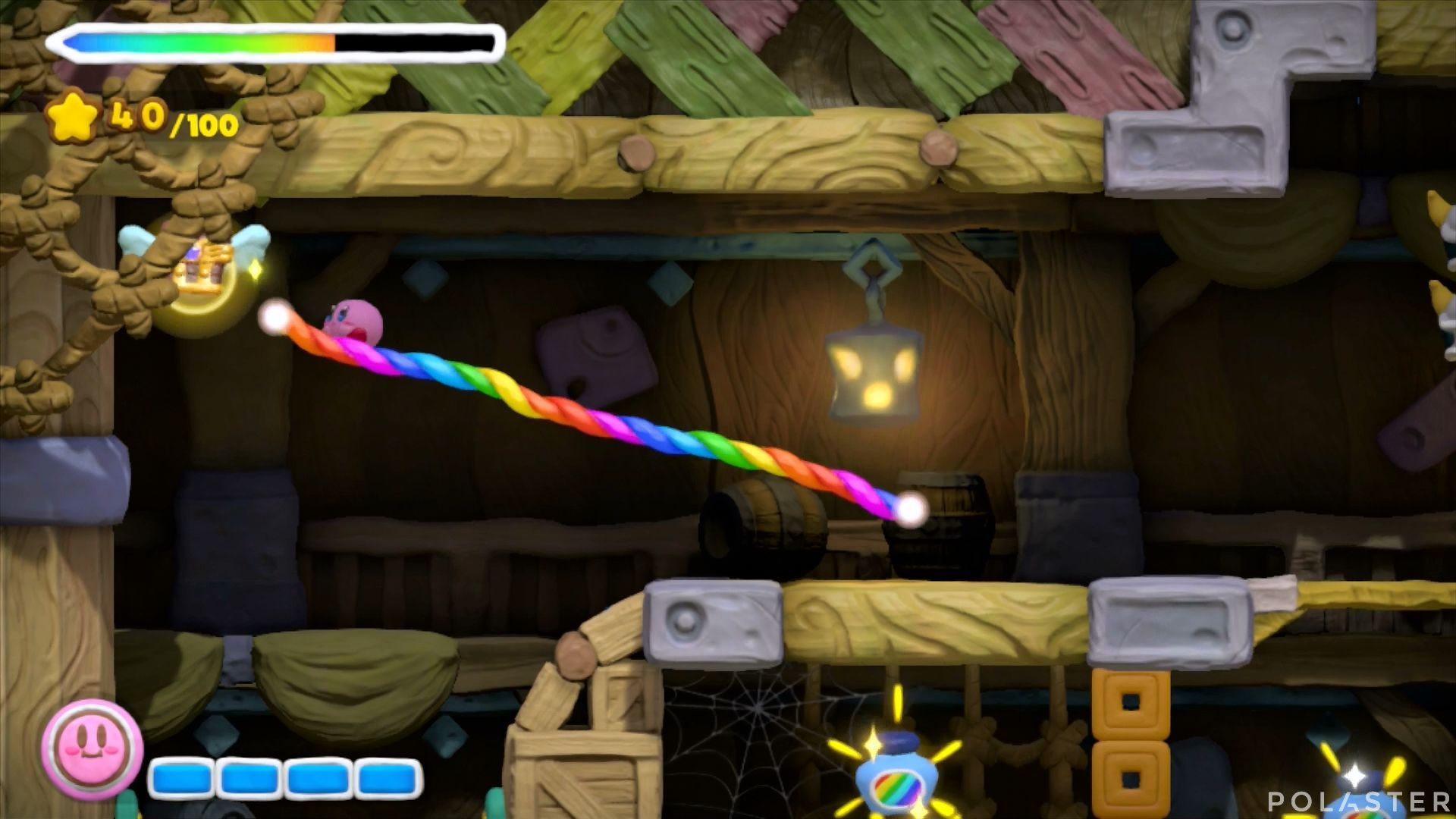 Kirby y el Pincel Arcoíris: Nivel 3-2 Cofre 3