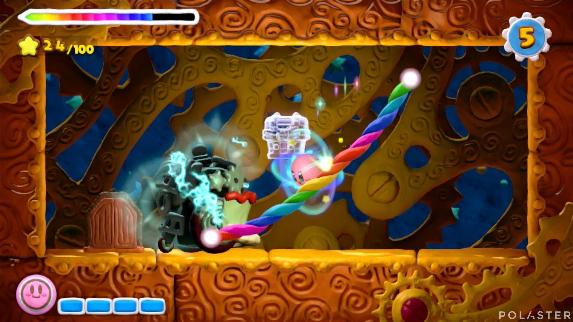 Kirby y el Pincel Arcoíris: Nivel 4-2 Cofre 5