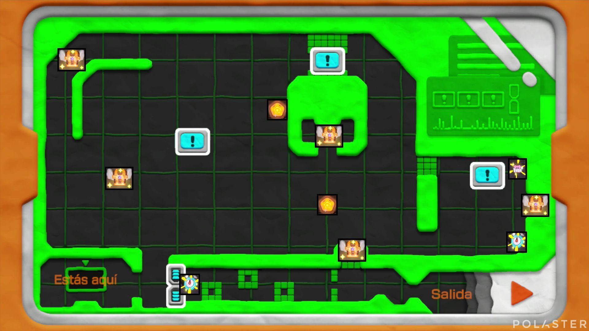Kirby y el Pincel Arcoíris: Nivel 4-3 Cofres