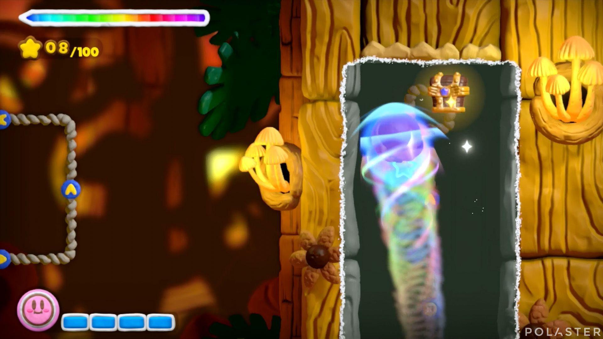 Kirby y el Pincel Arcoíris: Nivel 5-2 Cofre 1
