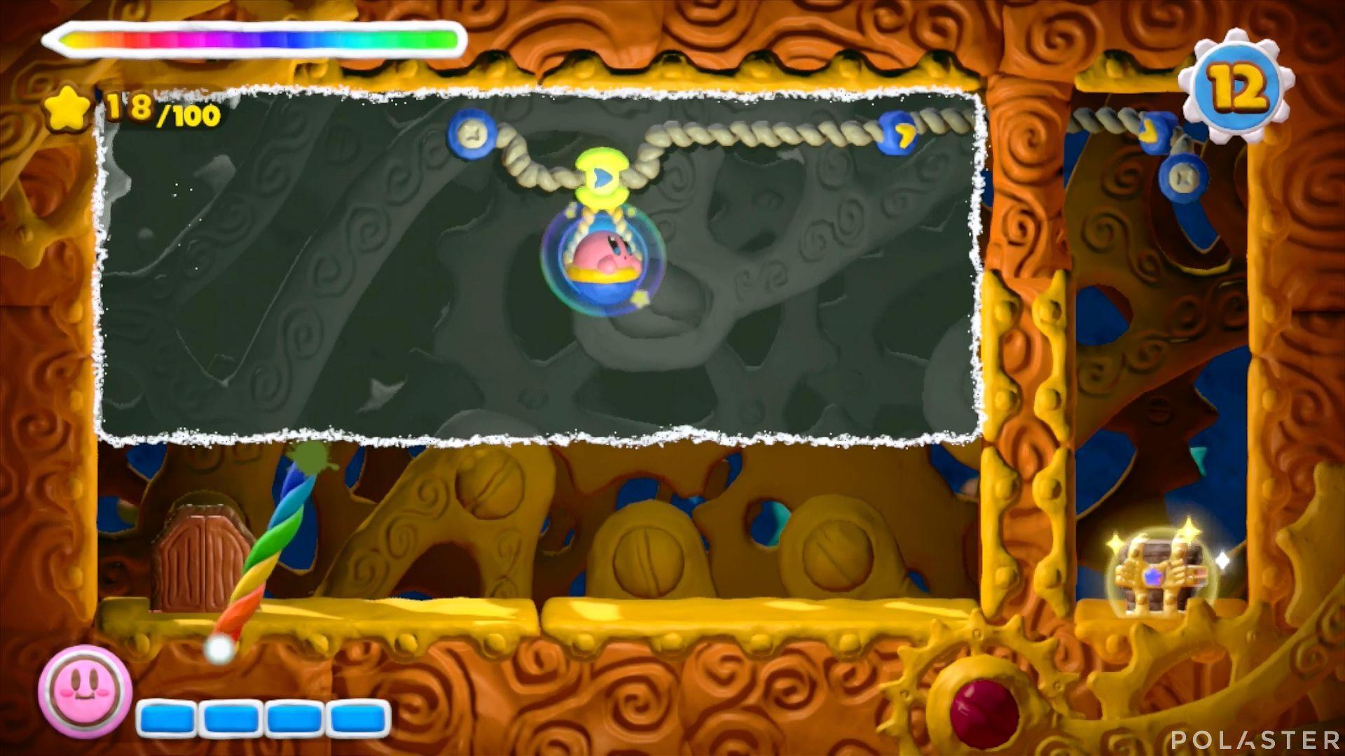 Kirby y el Pincel Arcoíris: Nivel 5-2 Cofre 4