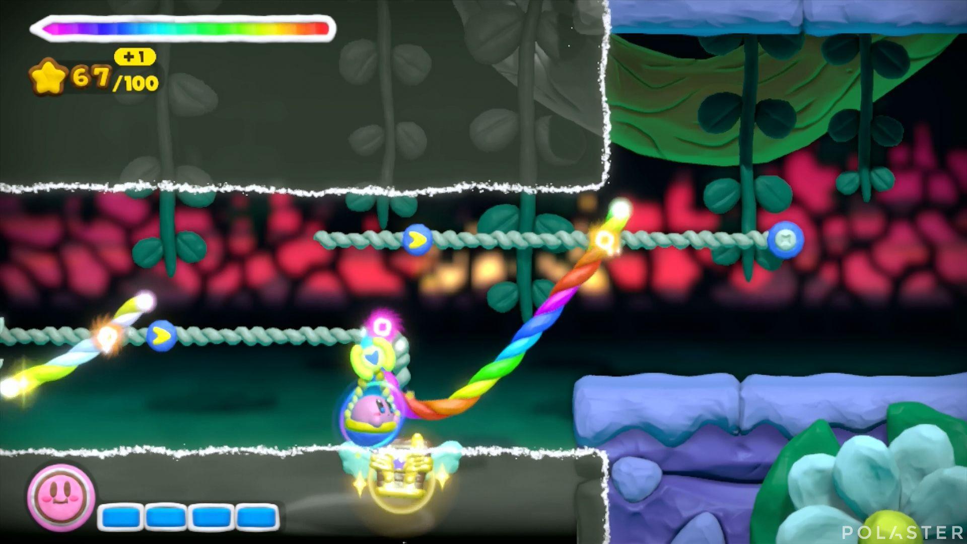 Kirby y el Pincel Arcoíris: Nivel 5-2 Cofre 5