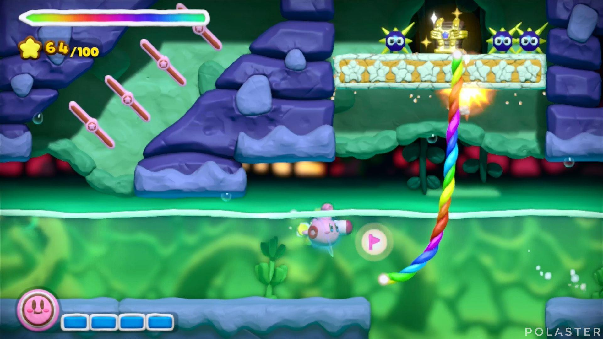 Kirby y el Pincel Arcoíris: Nivel 5-3 Cofre 1