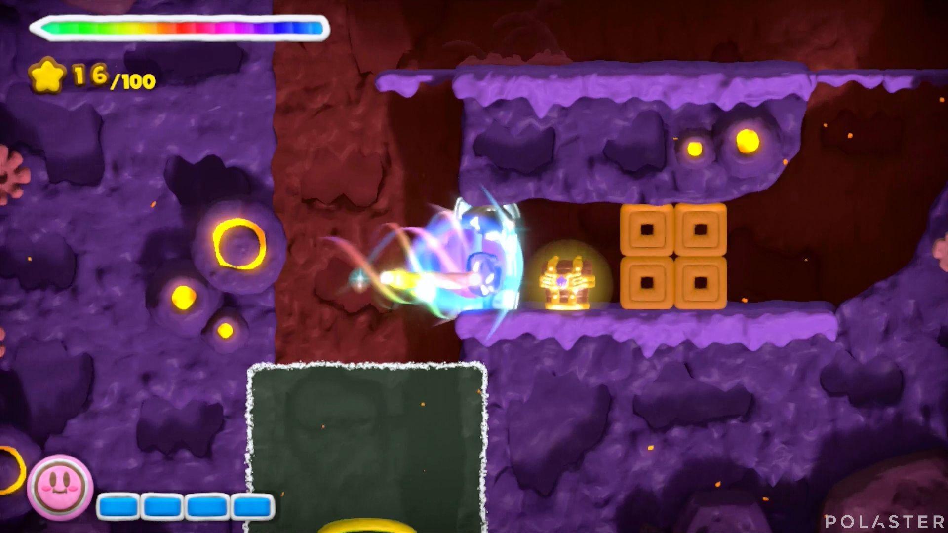 Kirby y el Pincel Arcoíris: Nivel 6-1 Cofre 1