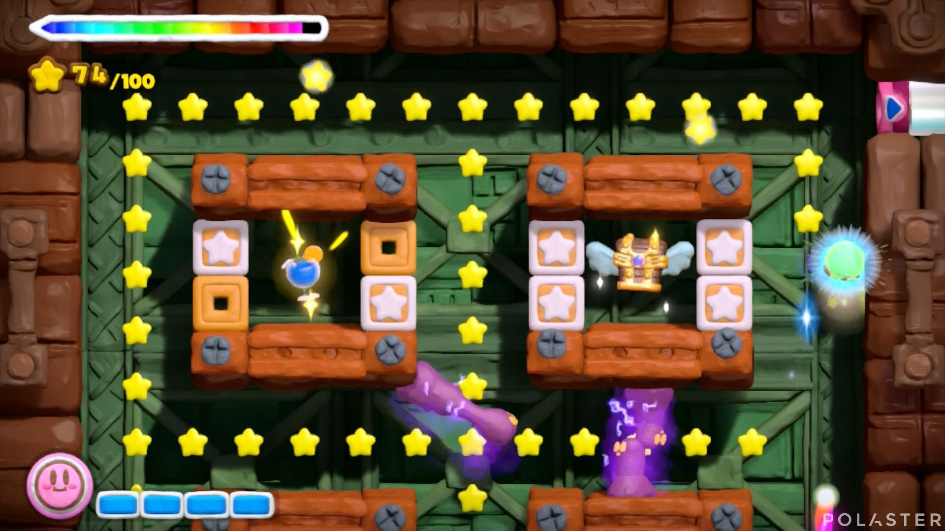 Kirby y el Pincel Arcoíris: Nivel 7-1 Cofre 3