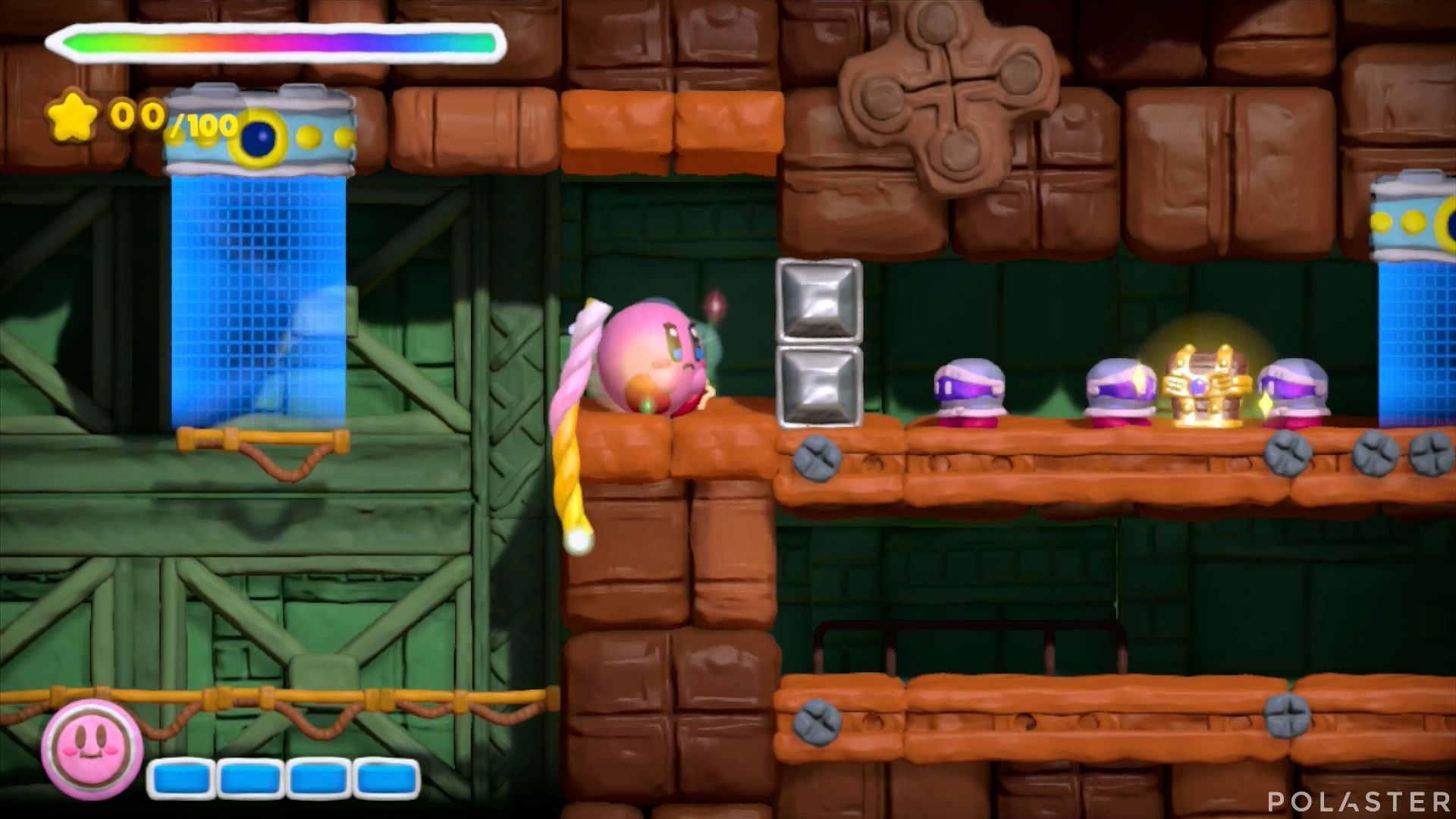 Kirby y el Pincel Arcoíris: Nivel 7-1 Cofre 4