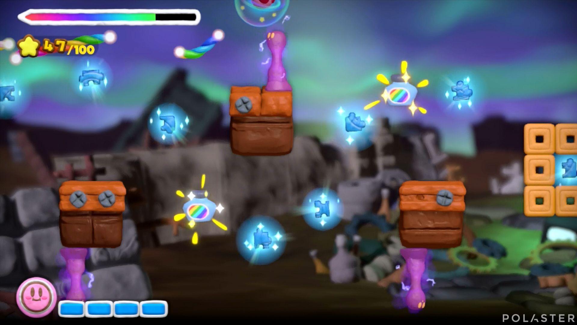 Kirby y el Pincel Arcoíris: Nivel 7-1 Cofre 5