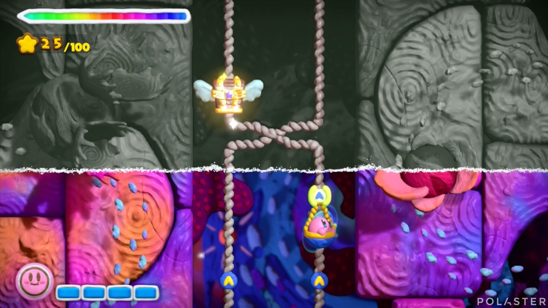 Kirby y el Pincel Arcoíris: Nivel 7-3 Cofre 3